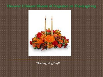 Discover Ultimate Blooms of Fragrance on Thanksgiving