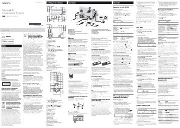 Sony CMT-G1iP - CMT-G1IP Istruzioni per l'uso Portoghese