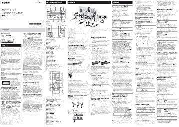 Sony CMT-G1BiP - CMT-G1BIP Istruzioni per l'uso Portoghese
