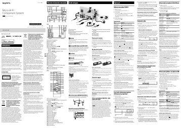 Sony CMT-G1BiP - CMT-G1BIP Istruzioni per l'uso Polacco
