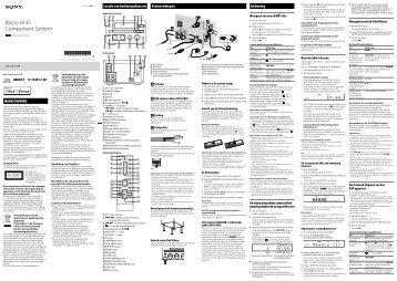Sony CMT-G1BiP - CMT-G1BIP Istruzioni per l'uso Olandese