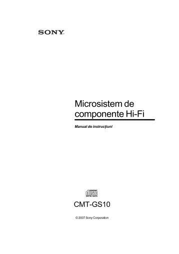 Sony CMT-GS10 - CMT-GS10 Istruzioni per l'uso Rumeno