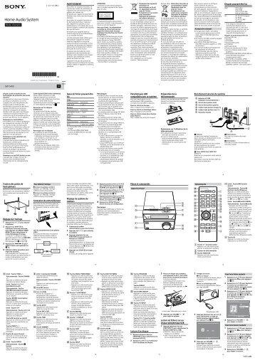 Sony CMT-S40D - CMT-S40D Istruzioni per l'uso Francese