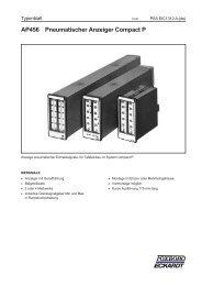 AP456 Pneumatischer Anzeiger Compact P - FOXBORO ECKARDT ...
