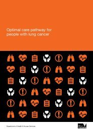 Optimal care pathway for people with lung cancer