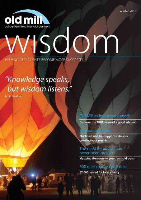 """but wisdom listens."""""""