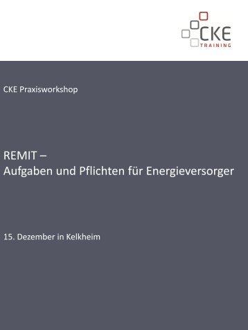 REMIT – Aufgaben und Pflichten für Energieversorger