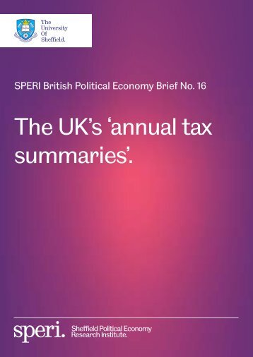The UK's 'annual tax summaries'