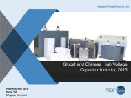 Discover the Global High Voltage Capacitor Market Growth 2015   Prof Research Reports