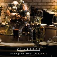 Glittering Celebrations at Chapters 2015