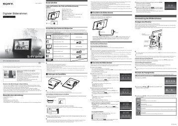 Sony DPF-C800 - DPF-C800 Istruzioni per l'uso Tedesco
