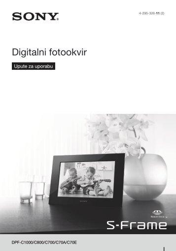 Sony DPF-C70E - DPF-C70E Istruzioni per l'uso Croato