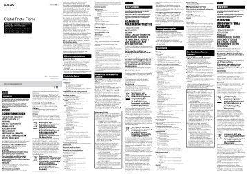 Sony DPF-HD800 - DPF-HD800 Istruzioni per l'uso Tedesco