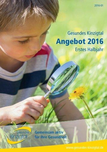 Gesundes Kinzigtal | Angebot 2016 | Erstes Halbjahr