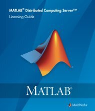 MATLAB Distributed Computing Server Licensing Guide