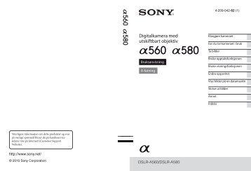 Sony DSLR-A560Y - DSLR-A560Y Istruzioni per l'uso Norvegese