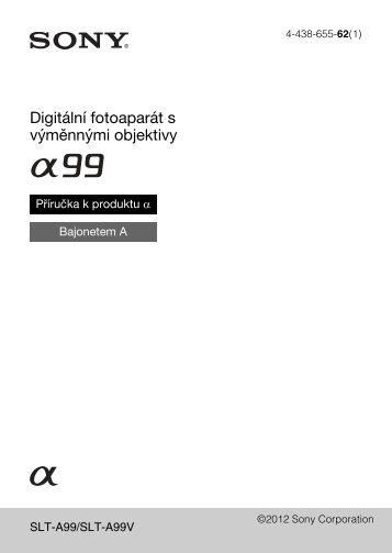 Sony SLT-A99V - SLT-A99V Istruzioni per l'uso Ceco