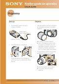 Sony DSLR-A290 - DSLR-A290 Istruzioni per l'uso Croato - Page 2