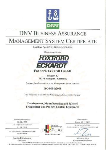 FOXBOBO - FOXBORO ECKARDT GmbH
