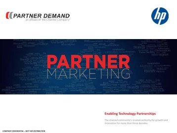 Enabling Technology Partnerships