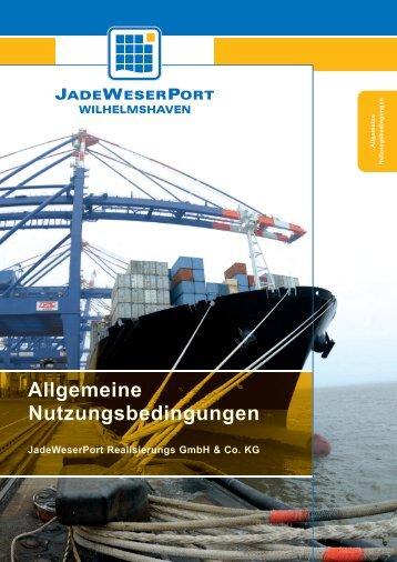 JWP-Allgemeine Nutzungsbedingungen/Hafentarif - JadeWeserPort