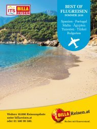 ITS BILLA REISEN - Best of Flugreisen Sommer 2016
