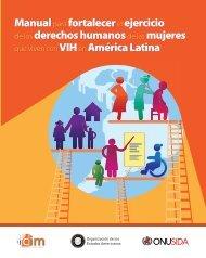 Manual fortalecer ejercicio derechos humanos mujeres VIH América Latina