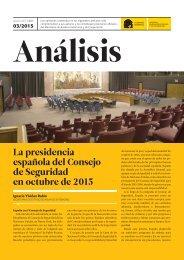 La presidencia española del Consejo de Seguridad en octubre de 2015