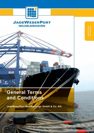 General Terms and Conditions - JadeWeserPort