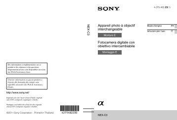 Sony NEX-C3 - NEX-C3 Istruzioni per l'uso Italiano