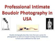 Professional Intimate Boudoir Photography in USA