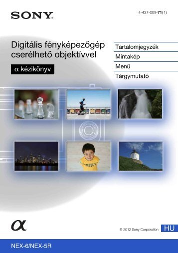 Sony NEX-5RL - NEX-5RL Istruzioni per l'uso Ungherese