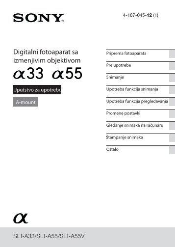 Sony SLT-A55L - SLT-A55L Istruzioni per l'uso Serbo