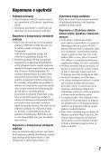 Sony SLT-A55L - SLT-A55L Istruzioni per l'uso Serbo - Page 7