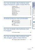 Sony NEX-6Y - NEX-6Y Istruzioni per l'uso Svedese - Page 4