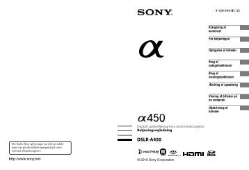 Sony DSLR-A450Y - DSLR-A450Y Istruzioni per l'uso Danese