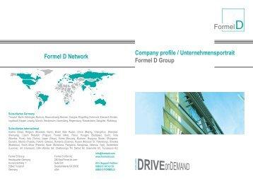 Company profile / Unternehmensportrait Formel D Group Formel D ...