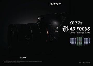 Sony ILCA-77M2Q - ILCA-77M2Q User's Guide Inglese