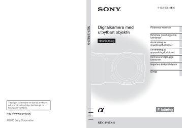 Sony NEX-3 - NEX-3 Istruzioni per l'uso Svedese