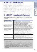Sony NEX-5TY - NEX-5TY Guida all'uso Ungherese - Page 2