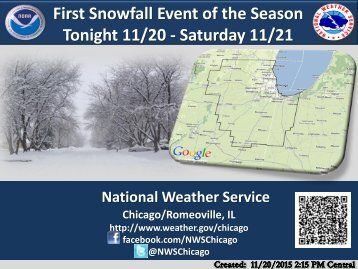 First Snowfall Event of the Season Tonight 11/20 - Saturday 11/21