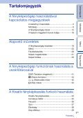 Sony NEX-5NK - NEX-5NK Istruzioni per l'uso Ungherese - Page 3