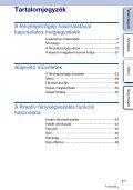 Sony NEX-6 - NEX-6 Istruzioni per l'uso Ungherese - Page 3