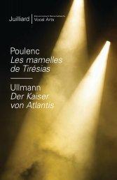 Poulenc Les mamelles de Tirésias Ullmann Der Kaiser von Atlantis