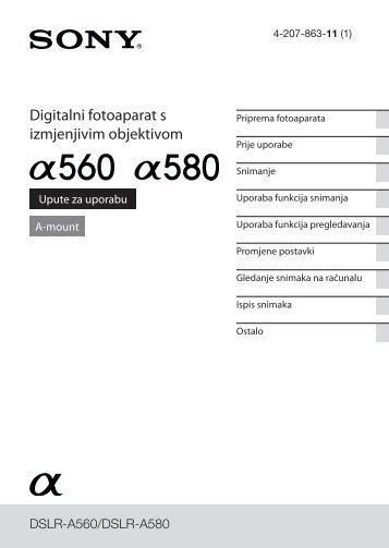 Sony DSLR-A560L - DSLR-A560L Istruzioni per l'uso Croato