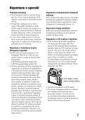 Sony DSLR-A560L - DSLR-A560L Istruzioni per l'uso Croato - Page 7