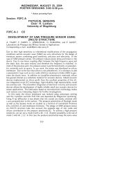 WEDNESDAY, AUGUST 25, 2004 POSTER SESSIONS: 3:00–6:30 ...