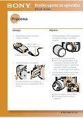 Sony DSLR-A390Y - DSLR-A390Y Istruzioni per l'uso Croato - Page 2