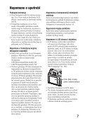 Sony DSLR-A580L - DSLR-A580L Istruzioni per l'uso Serbo - Page 7