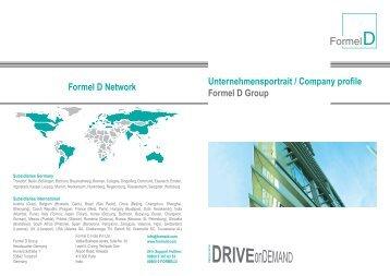Unternehmensportrait / Company profile Formel D Group Formel D ...